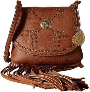 American West Austin Fringe Flap Bag w/ Wallet Wallet Handbags
