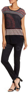 Desigual Lorene Embroidered Solid Jeans