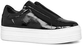 AllSaints Women's Aya Patent Leather Platform Slip-On Sneakers