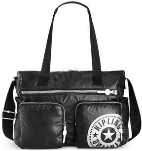 Kipling Stefany Tote - LACQUER BLACK/SILVER - STYLE