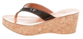 K Jacques St Tropez Cork Platform Wedges