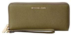 MICHAEL Michael Kors Jet Set Travel Leather Continental Wallet. - OLIVE - STYLE