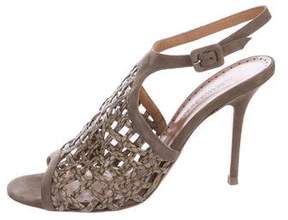 Alexa Wagner Embossed Cage Sandals