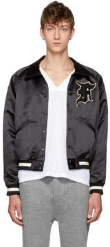 Fear Of God Black Manuel Baseball Coaches Jacket