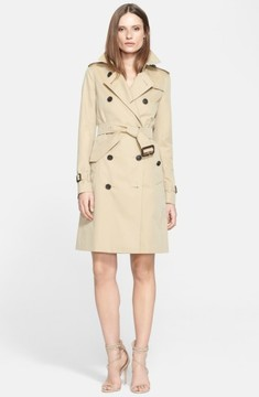 Women's Burberry Kensington Long Trench Coat