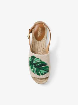 MICHAEL Michael Kors Fisher Palm Embroidered Espadrille