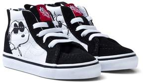 Vans Black SK8 Hi-Top Joe Cool Peanuts Zip Trainers