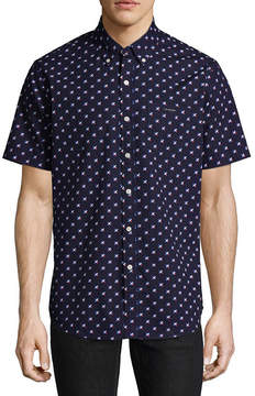 U.S. Polo Assn. USPA Short Sleeve Pattern Button-Front Shirt