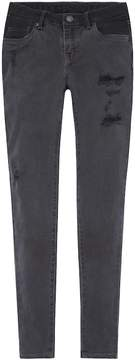 Levi's Girls 7-16 710 Super Skinny Fit Black Jeans