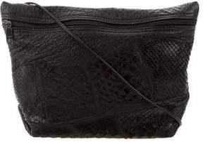 Carlos Falchi Snakeskin & Leather Bag