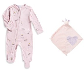 Angel Dear Infant Girl's Footie & Blankie Set