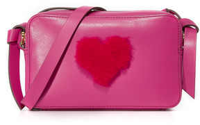 Anya Hindmarch Shearling Heart Mini Cross Body Bag