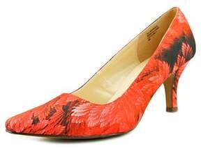 Karen Scott Clancy Women Pointed Toe Canvas Red Heels.