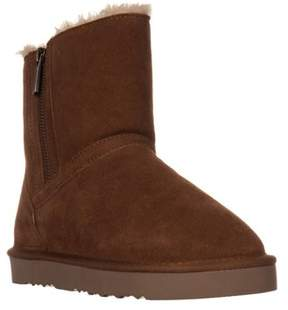 Style&Co. Sc35 Ciley Sherling Lined Mid-calf Winter Boots, Chestnut.