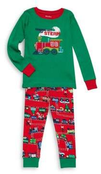 Hatley Toddler's, Little Boy's & Boy's Two-Piece Magical Christmas Train Applique Cotton Pajamas