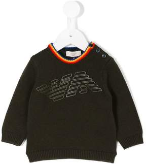 Emporio Armani Kids logo printed jumper
