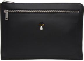 Fendi Black Micro Bag Bugs Pouch