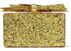 Edie Parker Wolf Glittered Acrylic Box Clutch