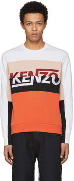 Kenzo White Colorblock Logo Sweatshirt