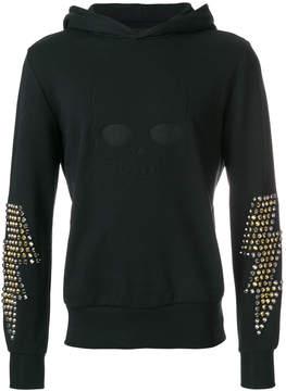 Hydrogen studded sleeves hoodie