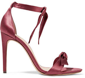 Alexandre Birman Clarita Bow-embellished Satin Sandals - Claret
