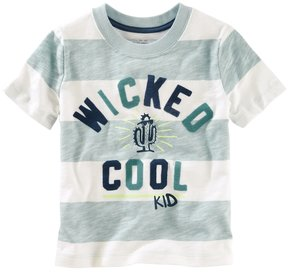 Osh Kosh Toddler Boy Slubbed Wicked Cool Kid Striped Tee