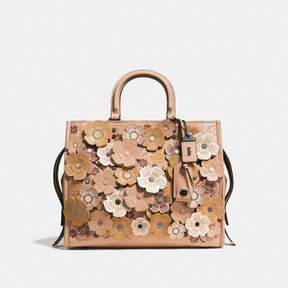 COACH COACH ROGUE WITH TEA ROSE - BEECHWOOD/BLACK COPPER