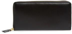 Comme des Garcons Men's Leather Continental Long Wallet - Black