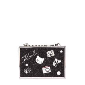 Karl Lagerfeld K/pins Tweed Shoulder Bag
