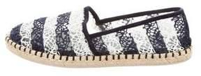 Louis Vuitton Crochet Round-Toe Espadrilles