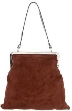 Marni Suede Frame-Lock Bag