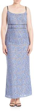 ABS by Allen Schwartz ABS, Plus Size Women's Floral Lace Gown