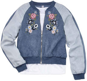 Knitworks Knit Works 2pc. Long Sleeve Bomber Jacket with Top - Girls' 7-16