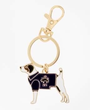 Brooks Brothers Enamel Dog Keychain