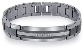 Armani Exchange Jewelry Mens Diamond Tungsten Carbide Id Bracelet (0.20 Carats, H-i I2).