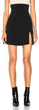 David Koma for FWRD Zip Pocket Split Hem Skirt in Black.