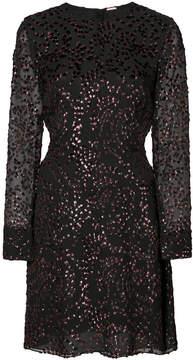 ADAM by Adam Lippes lurex velvet long sleeve fitted dress
