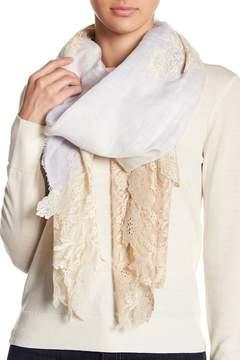 Bindya Colorblock Lace Linen Blend Scarf