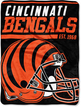 Northwest Company Cincinnati Bengals Micro Raschel 46x60 40 Yard Dash Blanket