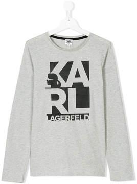 Karl Lagerfeld long-sleeved branded sweatshirt