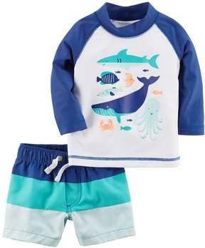 Carter's Baby Boy 2-pc. Sea Creatures Rashguard & Swim Trunks Set