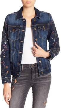 Driftwood Floral Embroidered Denim Jacket