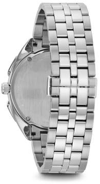 Bulova Curv 96A186 Black/Silver Stainless Steel Analog Quartz Men's Watch