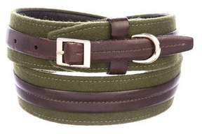 Oscar de la Renta Leather Buckle Belt