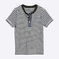 J.Crew Factory Boys' short-sleeve striped henley