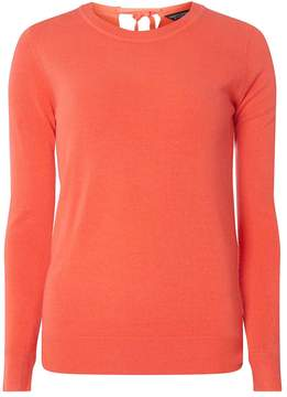 Dorothy Perkins Coral Bow Tie Back Jumper