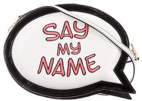 Sophia Webster Say My Name Speech Bubble Clutch