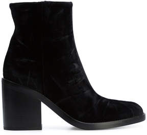 Ann Demeulemeester fitted heeled boots