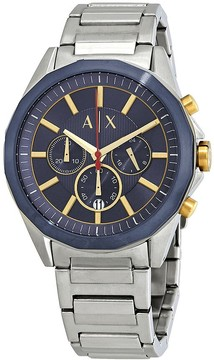 Armani Exchange Navy Blue Dial Chronograph Men's Watch