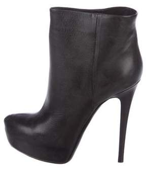 Ballin Classic Leather Platform Ankle Boots w/ Tags